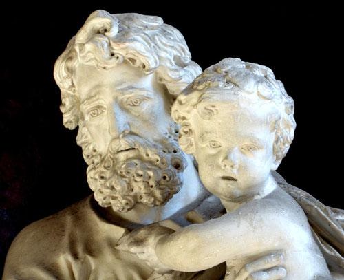 Détail de la statue de Saint-Joseph