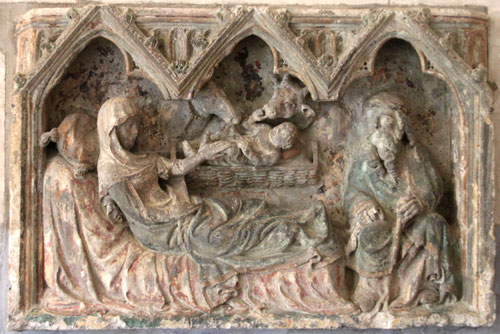 La Neuville-sous-Corbie- La crèche à l'intérieur de l'église-- Ph: Christiane Sellez