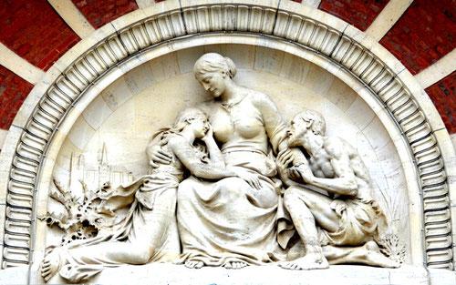 Amiens- Hôpital Pinel- La Charité accueillant les malades.
