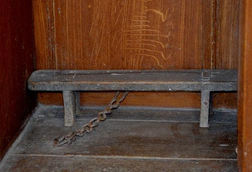 Le banc du confessionnal de Coisy