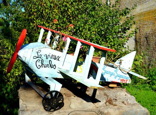 L'avion de Guynemer à Nampty reconstitué par Georges-Marie Duquesne- Août 2014
