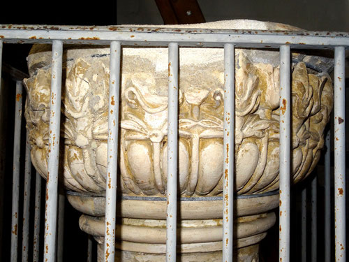 La cuve des fonts de l'église de Sainte-Segrée