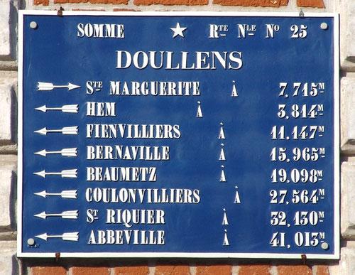 Doullens- Angle rue du Bourg et rue des Boucheries