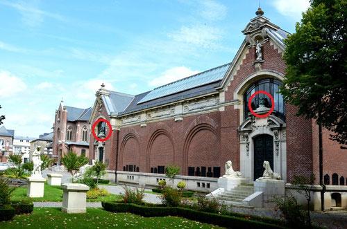 """Le Musée Lombart de Doullens. A gauche, la """"Liberté"""", à droite, """"l'Esclavage"""""""