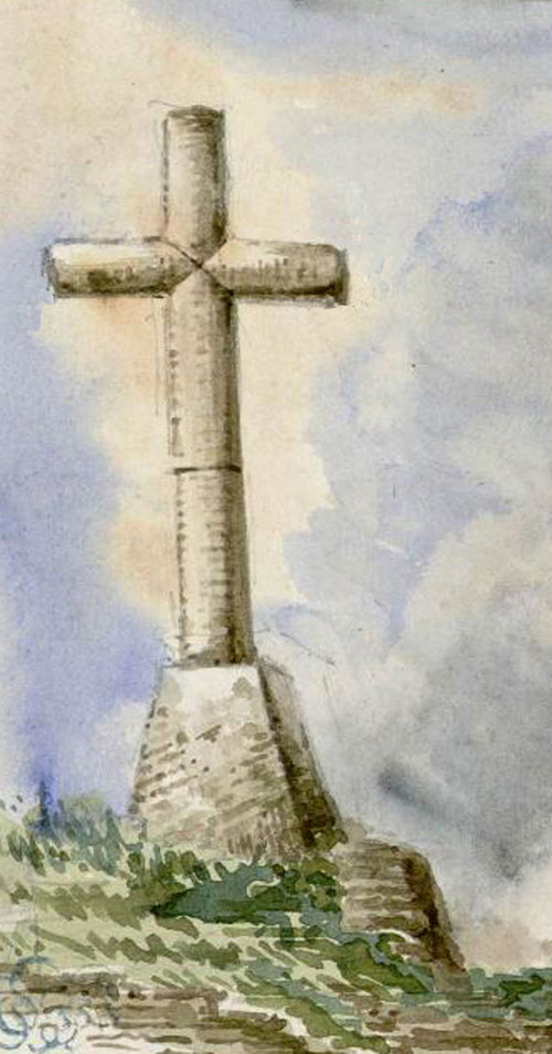Tully- Aquarelle Oswald Macqueron- 29-06-1853- BM Abbeville