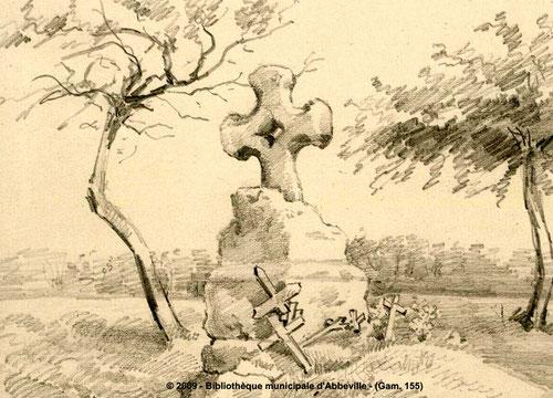 Frettemeule- Dessin de L. Gillard- BM Abbeville