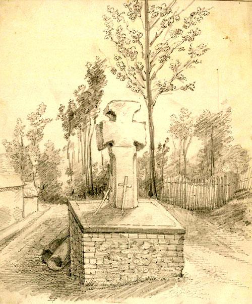 Toeufles- Dessin de Léon Gillard- BM Abbeville