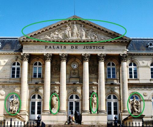 Palais de Justice d'Amiens- Entrée principale, rue Robert de Luzarches
