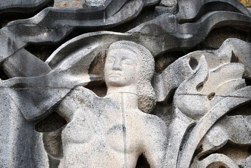 """Détail de la sculpture: """"La Licorne"""""""