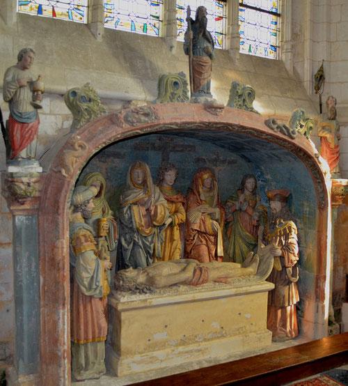 Le Sépulcre de l'église de la Sainte-Trinité à Allery