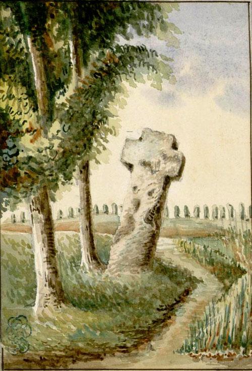 Cambron- La croix qui corne. BM Abbeville