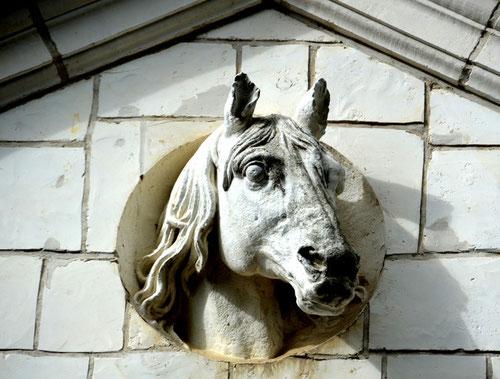 Tête de cheval sur les Ecuries du château de Gézaincourt