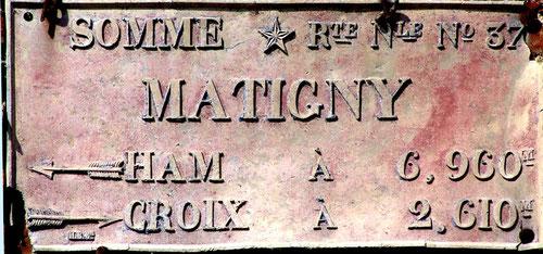 Matigny-canton de Ham