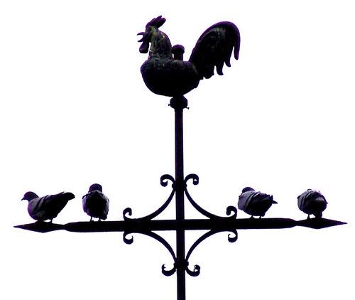 La croix du clocher d'Authieule