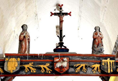 La poutre de gloire de l'église St-Etienne de Bouttencourt