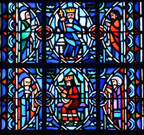 Détail du vitrail de choeur de la Cathédrale