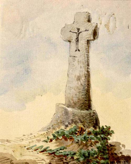 Oisemont- Aquarelle Macqueron- 20-07-1870- BM Abbeville