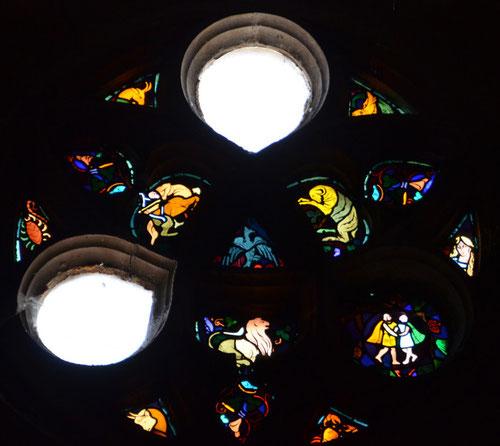 Rosace de l'église Saint-Sépulcre- Montdidier