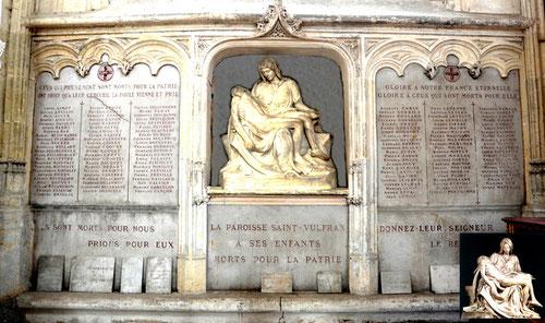 Monument aux morts dans la collégiale Saint-Vulfran d'Abbeville