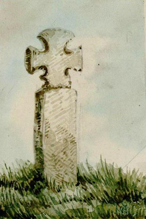 Fressenneville- Aquarelle Oswald Macqueron- BM Abbeville- 30-05-1853