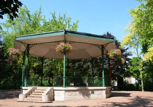 Dans le jardin public d'Albert