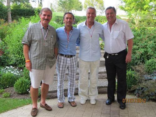 vlnr: Agostini Armand, Staudt Patrick, Hermes Fernand und Präsident Thoma Jean-Marie