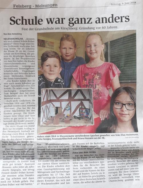 Zeitungsartikel anläßlich der Jubiläumsfeier