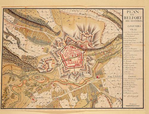 Belfort en 1741 (Service historique de la Défense à Vincennes - Autorisation de publication à demander)