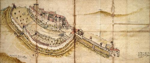 Belfort en 1579 (Service historique de la Défense à Vincennes - Autorisation de publication à demander)