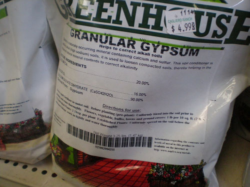 Granular gypsum, 3.25 pound bag