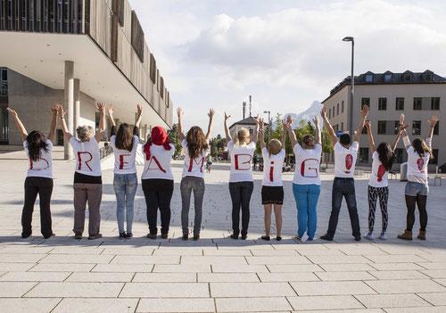 Dream Big! Künstlerische Intervention im Stadtraum Salzburgs – Women's Space 2014 (Foto: Pia Streicher)