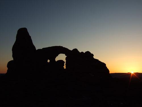 Sonnenuntergang am Turret Arch