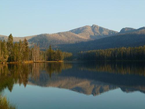 Sylvan Lake mit Top Notch Peak