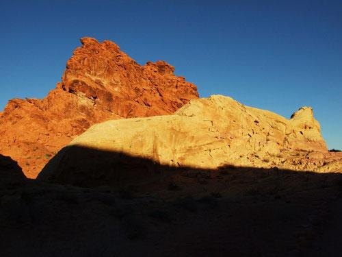 White Domes Loop zum Sonnenaufgang