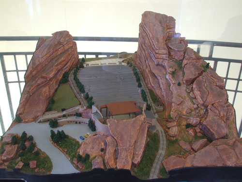 Red Rocks Amphitheatre Modell