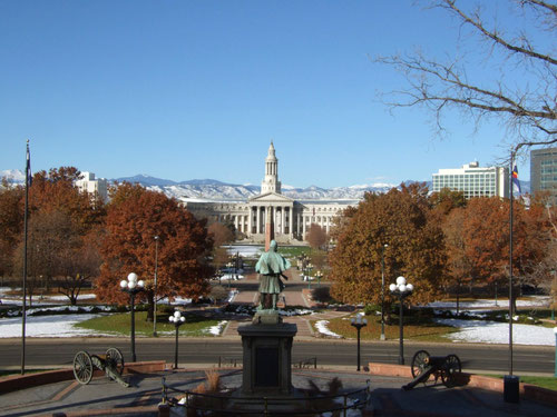 Blick vom Colorado State Capitol zum Denver City & County Building