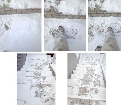 階段雪マット