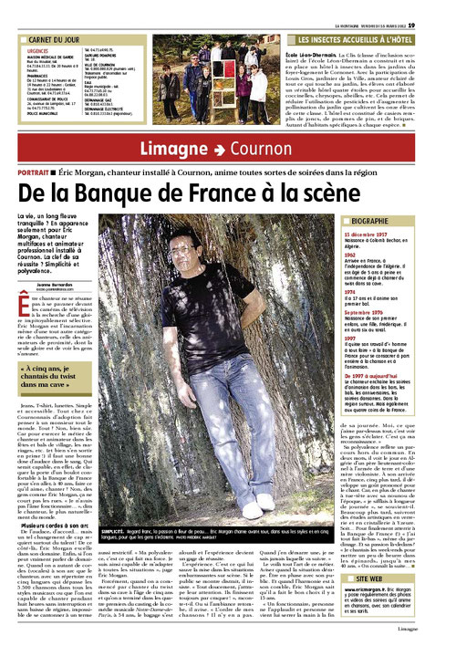 article de La MONTAGNE du 16 mars 2012