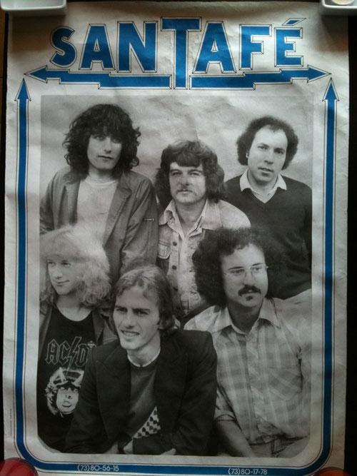 les années 80 avec l'orchestre Santafé