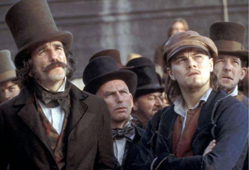 Daniel Day-Lewis & Leonardo Di Caprio / Upside Look / Close-Up / Cone Hats / Irish Migrants