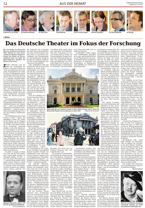 Bericht der Sudetendeutschen Zeitung 11.11.2011
