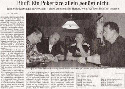 Aalener Nachrichten vom 08. Janaur 2011