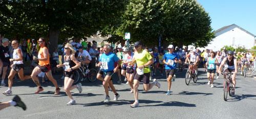 Départ du run & Bike 2011