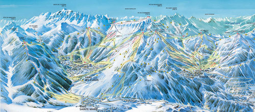 """Plan des pistes """"La Forêt Blanche"""""""