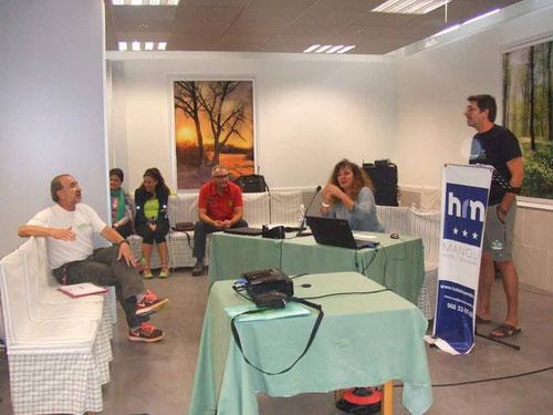 Momento del seminario de instructores del día anterior