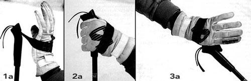 uso de la dragonera clásica (cinta) en esquí de fondo