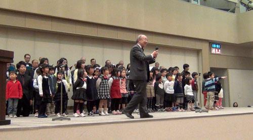 生命学園の子供たちも一緒に歌いました!!
