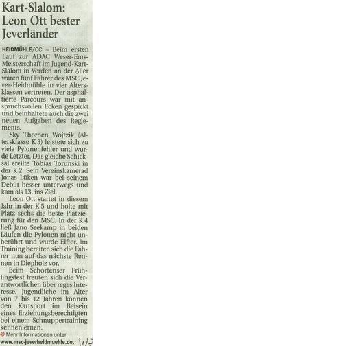 Wilhelmshavener Zeitung 04.05.2017