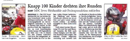 Wilhelmshavener Zeitung vom 08.08.2013