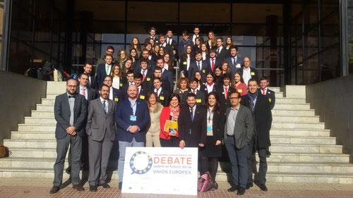 Jueces y participantes del Primer Encuentro
